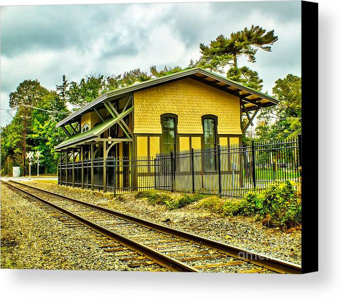 Train Canvas Print featuring the photograph Glassboro Train Station by Nick Zelinsky