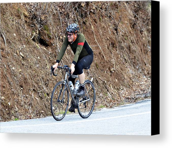 Sport Canvas Print featuring the photograph Grand Fondo Rider by Susan Leggett