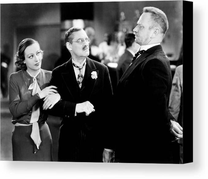 1930s Movies Canvas Print featuring the photograph Grand Hotel, From Left, Joan Crawford by Everett