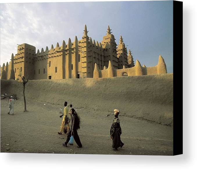 Horizontal Canvas Print featuring the photograph Great Mosque Of Djenn�. S.xiv. Mali by Everett
