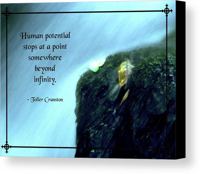 Quotation Canvas Print featuring the photograph Human Potential by Mike Flynn