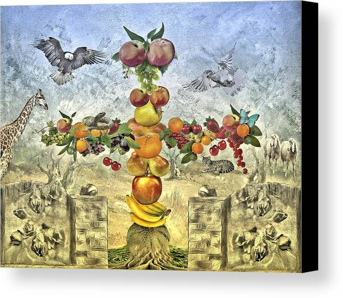 Garden Canvas Print featuring the photograph In The Garde Of Eden by Manfred Lutzius