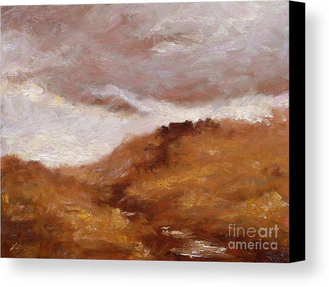 Landscape Paintings Canvas Print featuring the painting Irish Landscape I by John Silver