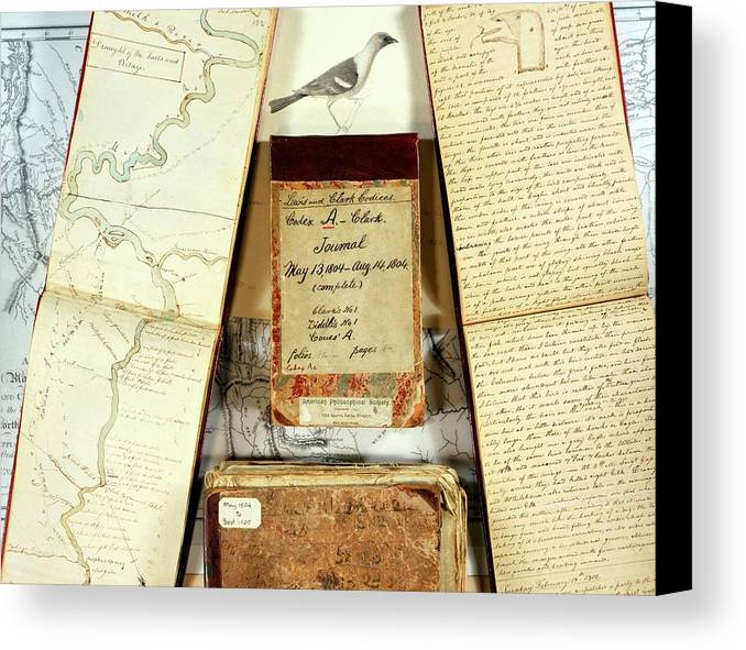 Lewis And Clark Expedition Journals Canvas Print Canvas