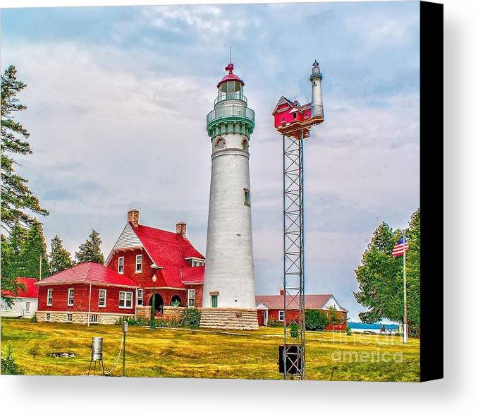 Architecture Canvas Print featuring the photograph Light At Seul Choix Point by Nick Zelinsky