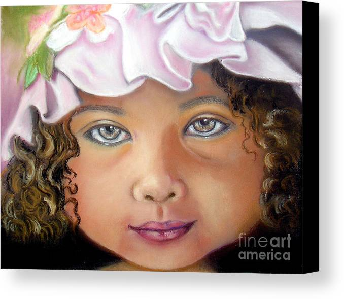 Hat Canvas Print featuring the pastel Love My New Hat by Lamarr Kramer