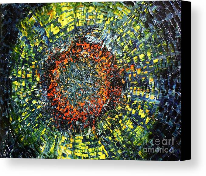Supernova Canvas Print featuring the painting Physiological Supernova by Michael Kulick