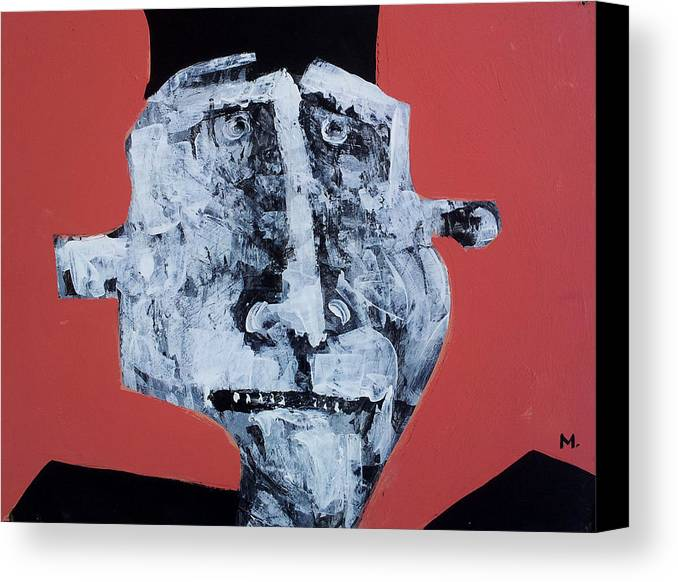 Face Canvas Print featuring the painting Protesto No. 5 by Mark M Mellon
