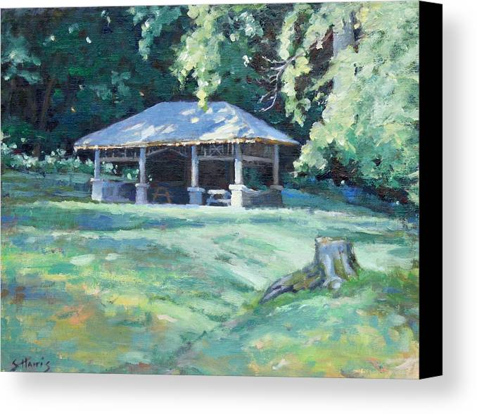 Frist Shelter Canvas Print featuring the painting Quiet Resting Place by Sandra Harris