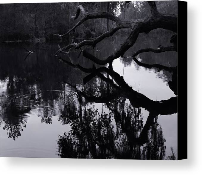 Ripples Of Black And White Canvas Print featuring the photograph Ripples Of Black And White by Warren Thompson