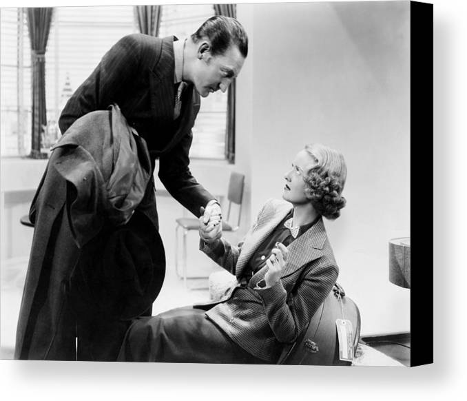 1930s Movies Canvas Print featuring the photograph Satan Met A Lady, From Left, Warren by Everett