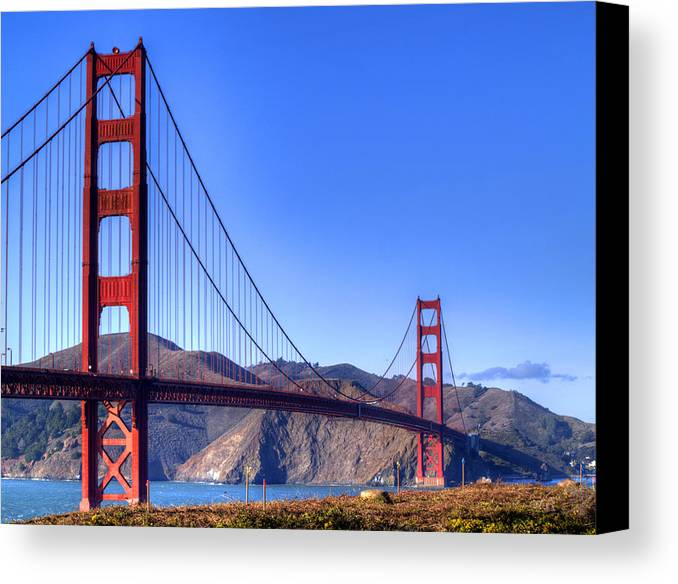 Golden Gate Bridge Canvas Print featuring the photograph The Bridge by Bill Gallagher