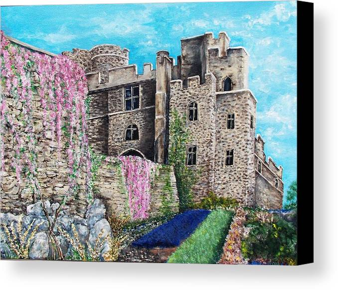 Castle Canvas Print featuring the painting The Castle by Walter Carrick
