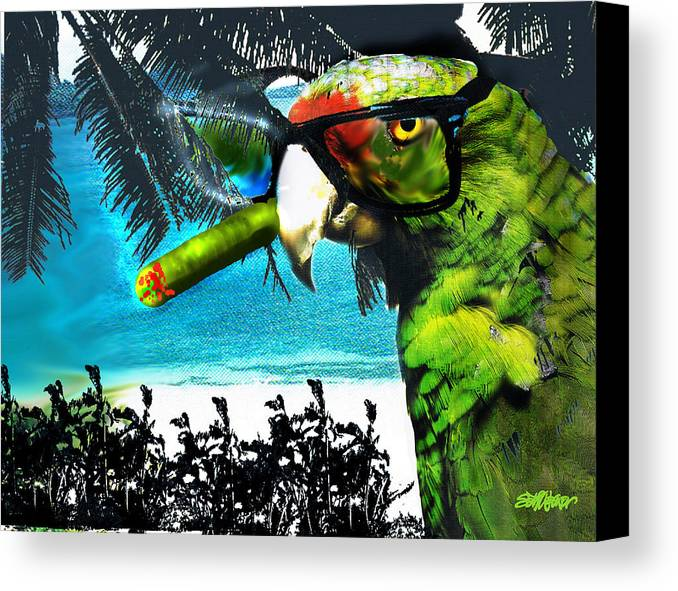 The Great Bird Of Casablanca Canvas Print featuring the digital art The Great Bird Of Casablanca by Seth Weaver