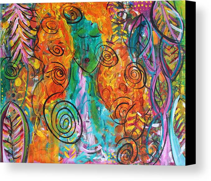 Bali Canvas Print featuring the painting The Ish-ness Of Her by Ann Lauren