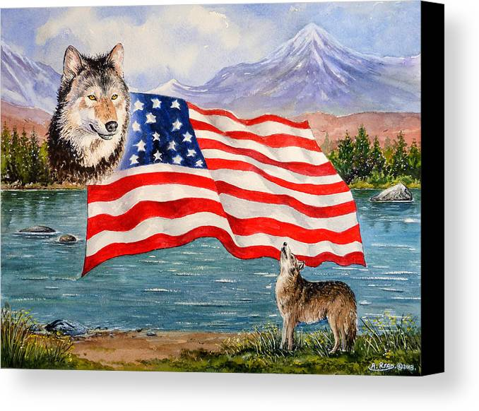 Andrew Read Canvas Print featuring the painting The Wildlife Freedom Collection 1 by Andrew Read