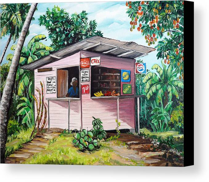 Shop Painting Canvas Print Featuring The Trini Roti By Karin Dawn Kelshall Best