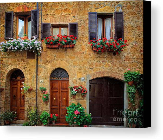 Europe Canvas Print featuring the photograph Tuscan Homes by Inge Johnsson