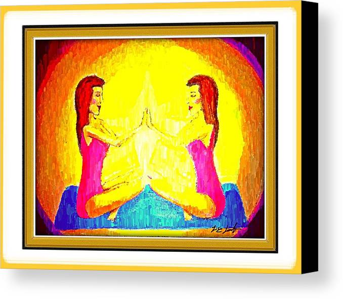 Art Canvas Print featuring the painting Twin Power. by Larry Lamb