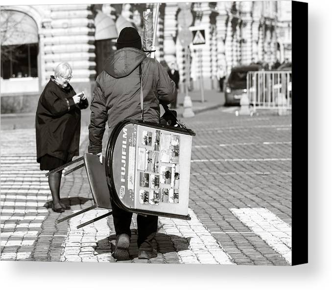 Age Canvas Print featuring the photograph Will Cell Phones Cameras Hurt Photography? - Featured 3 by Alexander Senin