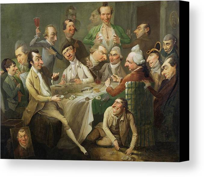 Xyc146046 Canvas Print featuring the photograph A Caricature Group by John Hamilton Mortimer