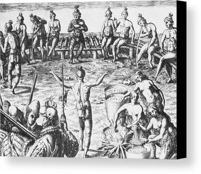 History Canvas Print featuring the photograph Native Amercian Medicine by Science Source