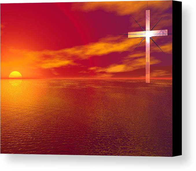 Religion Canvas Print featuring the digital art 231 Faith by Scott Bishop