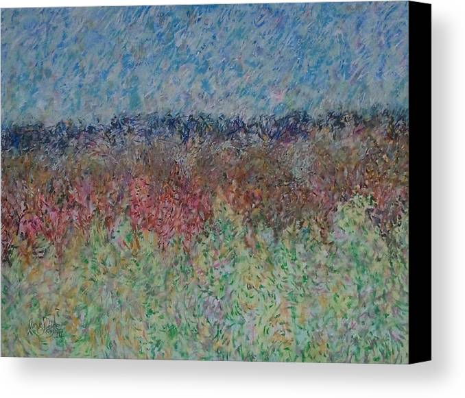 Landscape Canvas Print featuring the painting A Little Fog by James Daigle