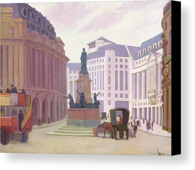 Aldwych Canvas Print featuring the painting Aldwych by Robert Polhill Bevan