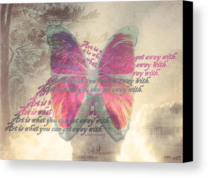 Butterfly Canvas Print featuring the digital art Art Is ..... by Yvon van der Wijk