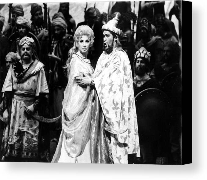 1970s Canvas Print featuring the photograph Beverly Sills, Justino Diaz Performing by Everett