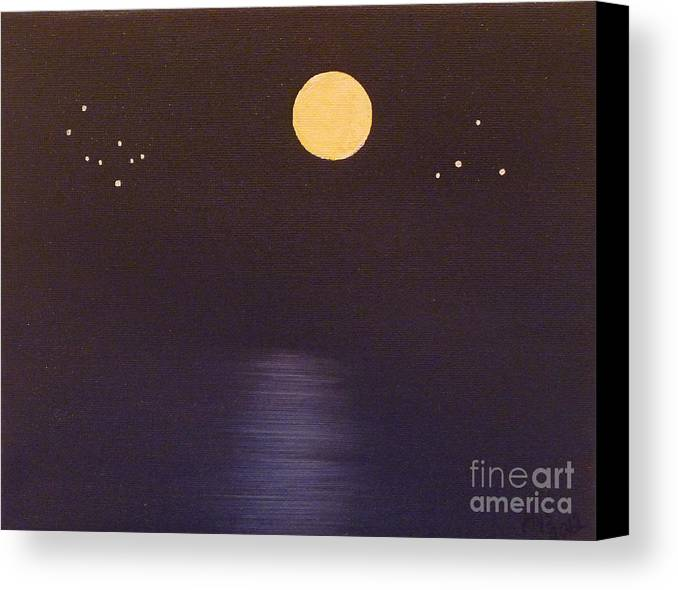 Stars Canvas Print featuring the painting Gemini And Libra by Alys Caviness-Gober