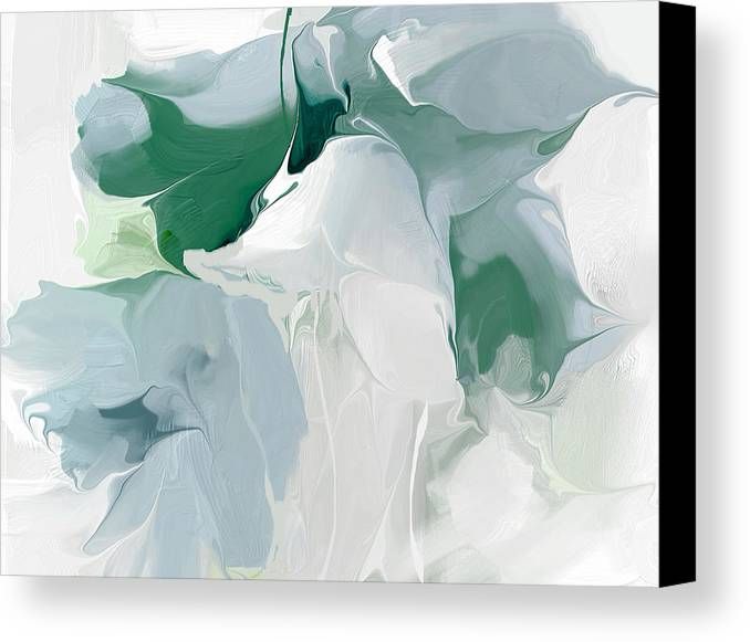 Abstract Canvas Print featuring the painting Greenpeace Lily by Davina Nicholas