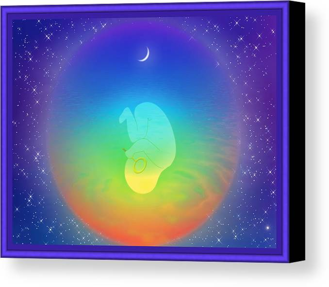 Symbolic Art Canvas Print featuring the digital art Immersion by Harald Dastis
