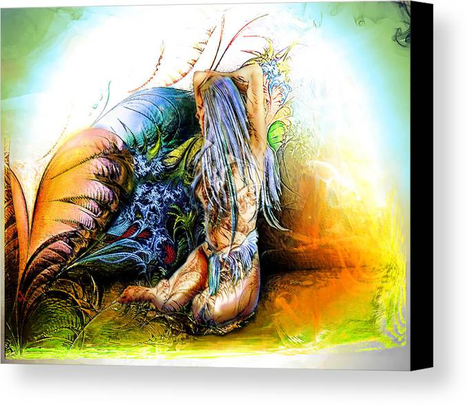 Garden Canvas Print featuring the painting In The Garden by Adam Vance