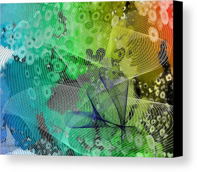 Abstract Canvas Print featuring the mixed media Magnification 5 by Angelina Vick