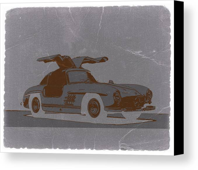 Canvas Print featuring the photograph Mercedes Benz 300 by Naxart Studio