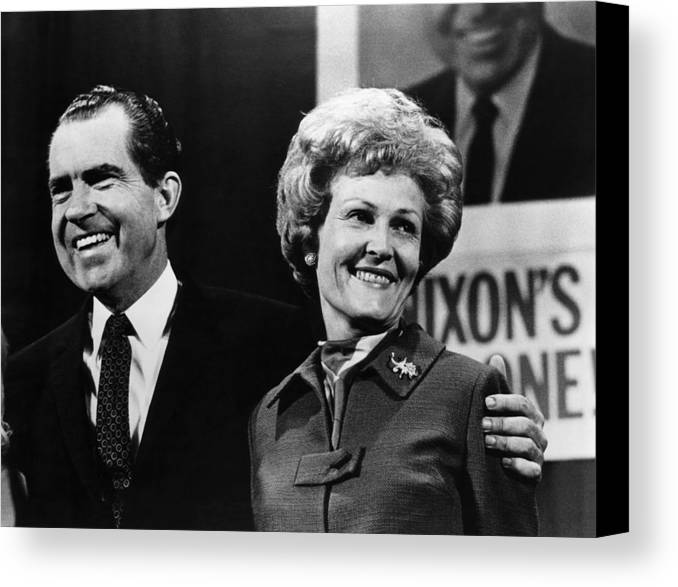 1970s Canvas Print featuring the photograph Nixon Presidency. Us President-elect by Everett