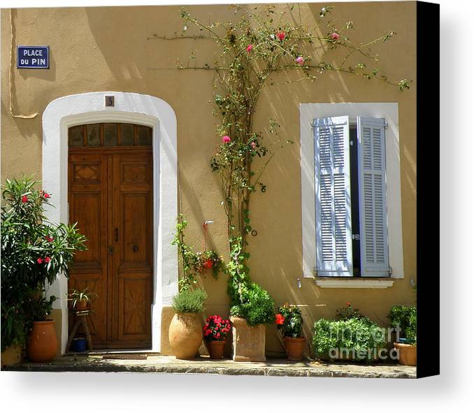 Provence Canvas Print featuring the photograph Provence Door 3 by Lainie Wrightson