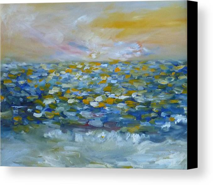 Landscape Canvas Print featuring the painting Stolen Treasure by Sophia B