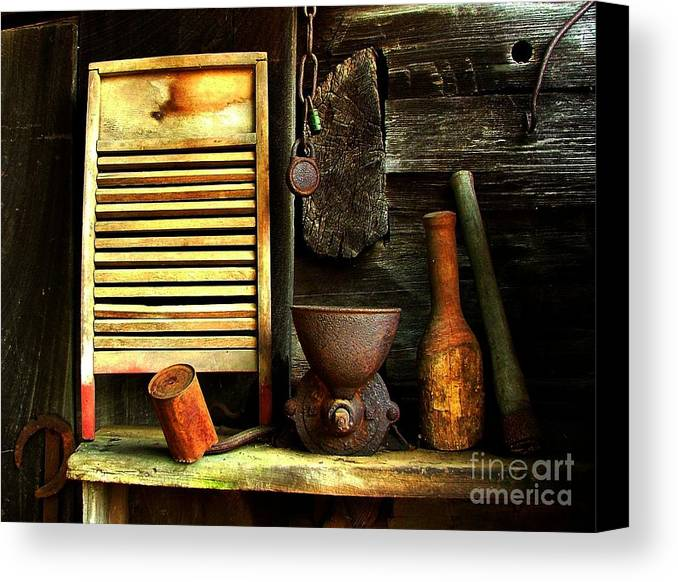 Old Washboards Canvas Print featuring the photograph Washboard Still Life by Julie Dant