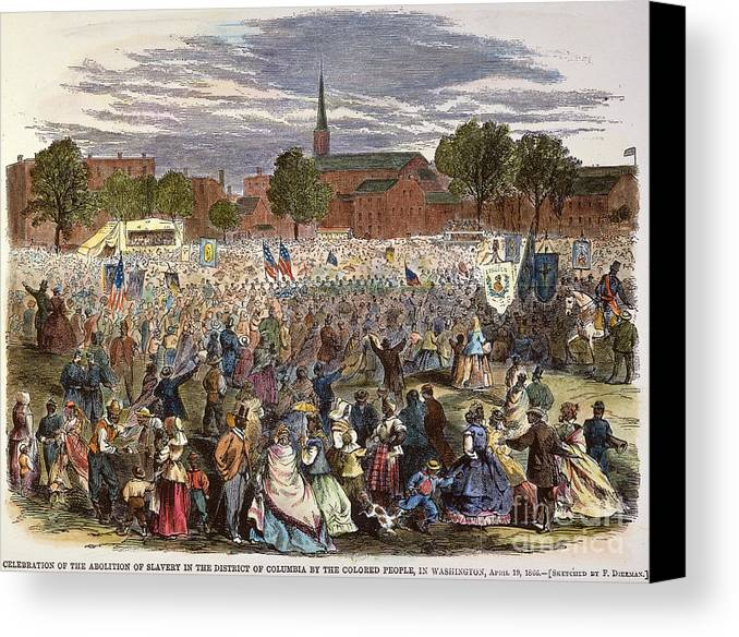 1866 Canvas Print featuring the photograph Washington: Abolition, 1866 by Granger