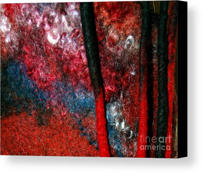 Abstract Canvas Print featuring the tapestry - textile Waterfall Of Dreadlocks by Alexandra Jordankova