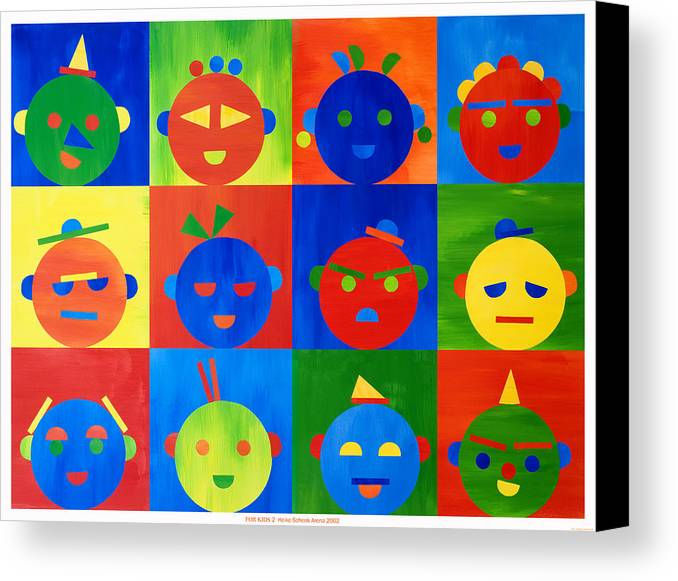 Kids Canvas Print featuring the mixed media For Kids N.2 by Heike Schenk-Arena