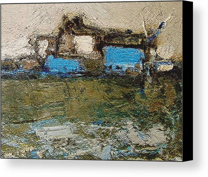 Landscapes Canvas Print featuring the painting Morning by Pemaro