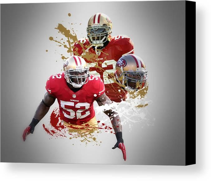 49ers Canvas Print featuring the photograph Patrick Willis 49ers by Joe Hamilton