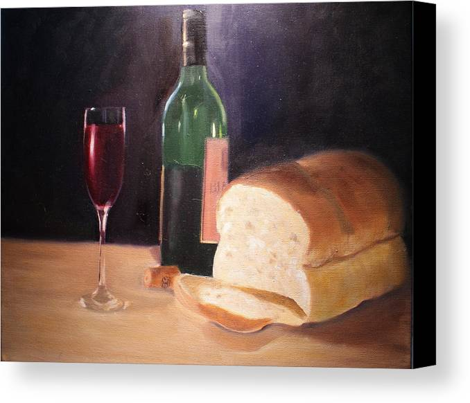 Wine Canvas Print featuring the painting Untitled by Toni Berry