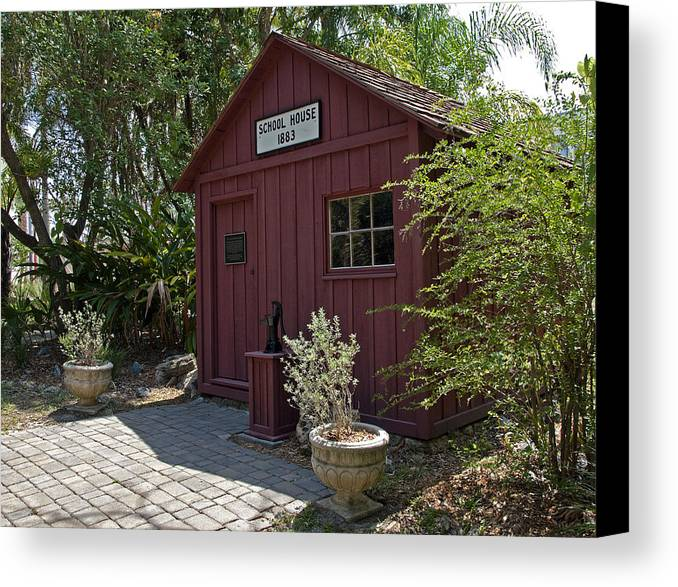 Little Canvas Print featuring the photograph 1883 Little Red Schoolhouse by Allan Hughes