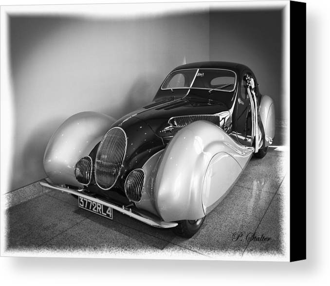 Car Canvas Print featuring the photograph 1937 Talbot-lago T150c by Patricia Stalter