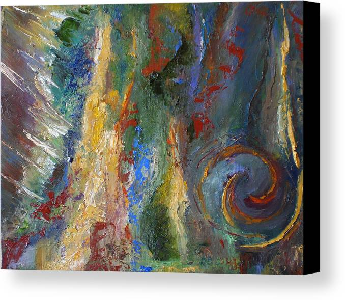 Abstract. Expressionism Canvas Print featuring the painting 23 by Lou Ewers